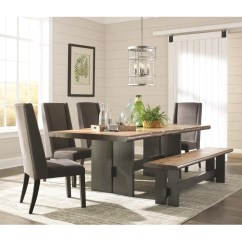 Kitchen Table Set With Bench Slim Storage Dining 6 Pcs Deco Furniture Group