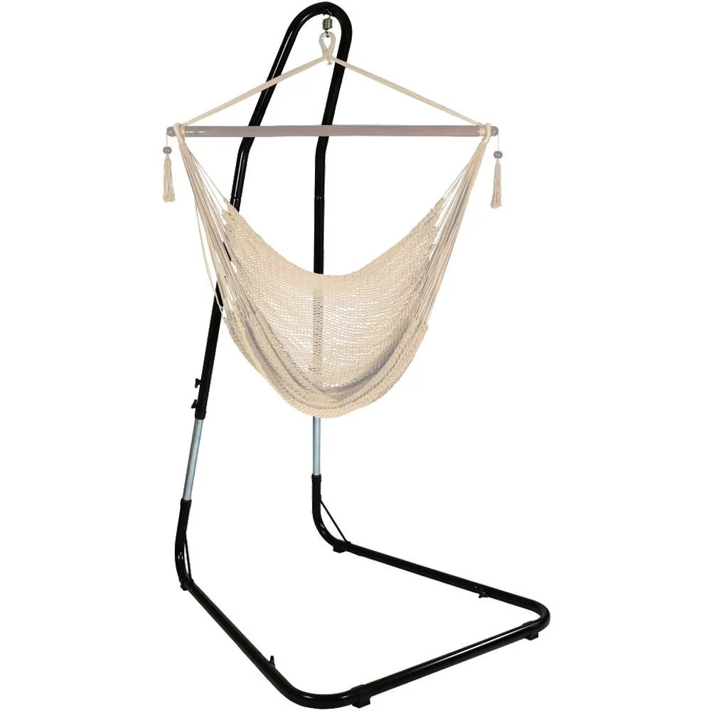 Swing Chair Stand Steel Hammock Chair Stand Black