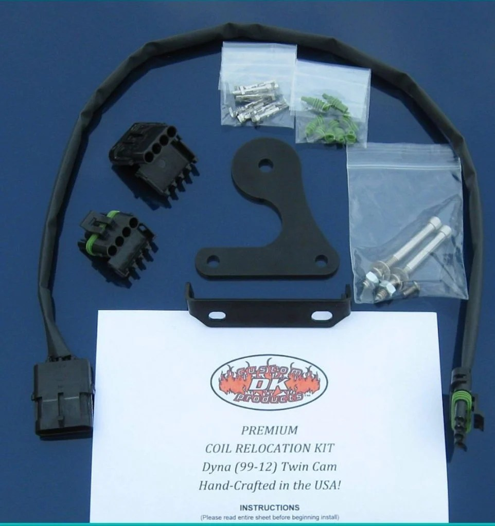small resolution of  harley davidson dyna coil relocation kit for carbureted models