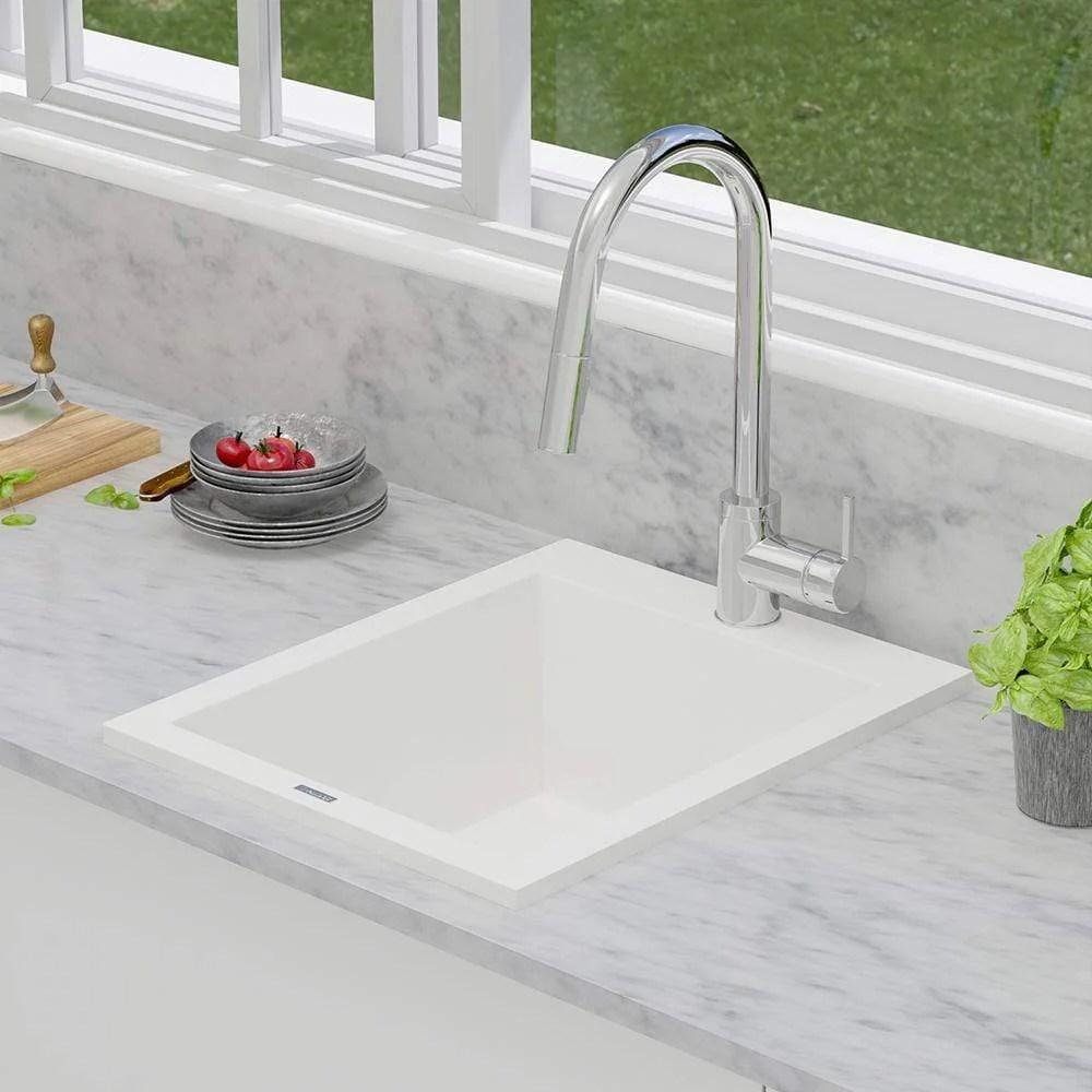 16 cardea granite composite sink pure white