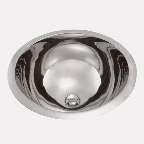 18 harlan smooth polished nickel plated copper sink magnus home products