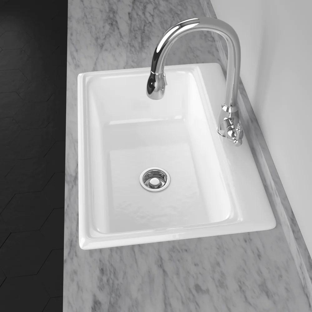 30 dalmar cast iron drop in kitchen sink