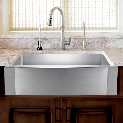 33 vaiden stainless steel single bowl farmhouse sink rippled apron
