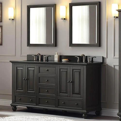 60 bosler double vanity for oval undermount sinks