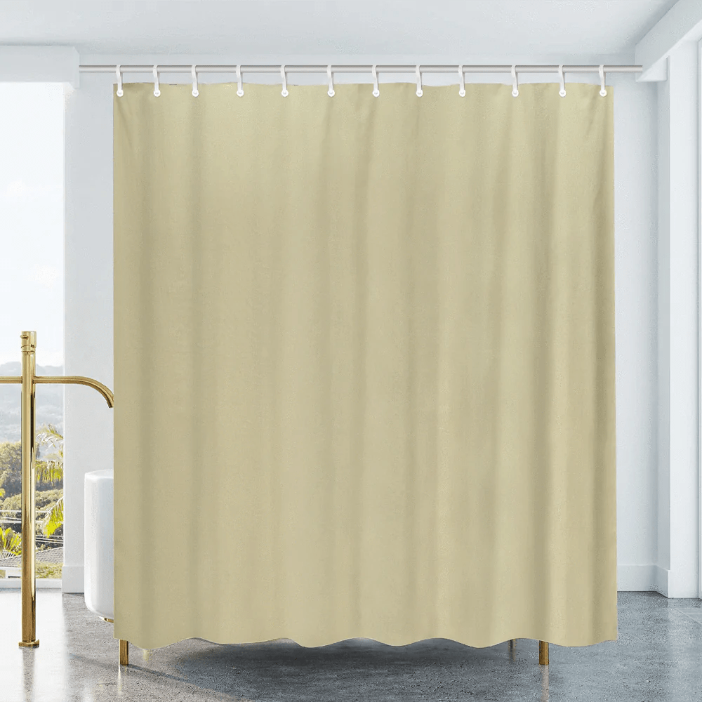 cotton duck shower curtain natural