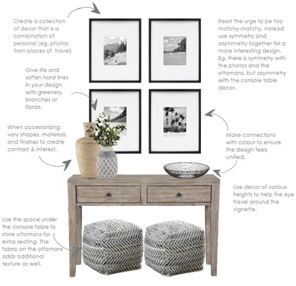 how to style a console table in 2019