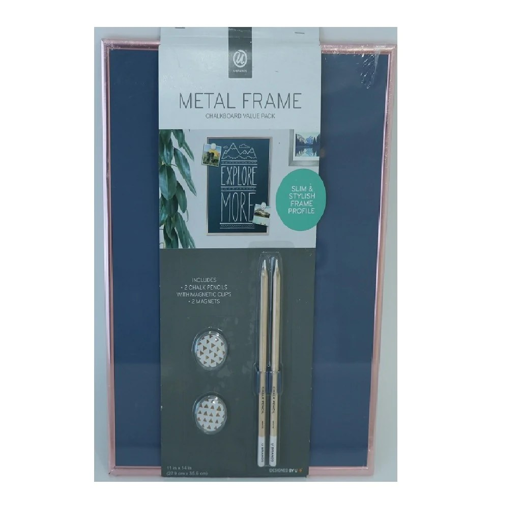 metal frame chalkboard
