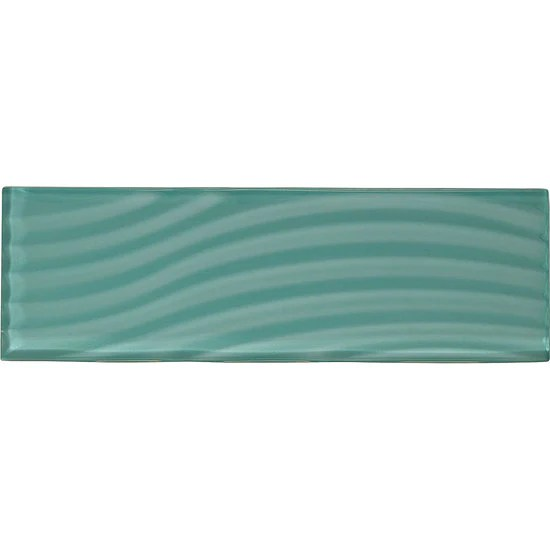 american olean abstracts 4 in x 12 in wavy glass wall tile fountain blue
