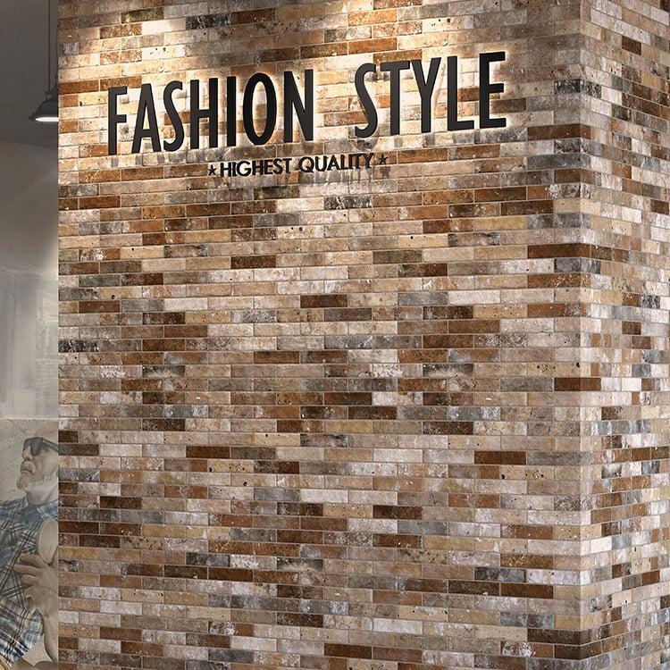 arizona tile castle brick porcelain tile multi