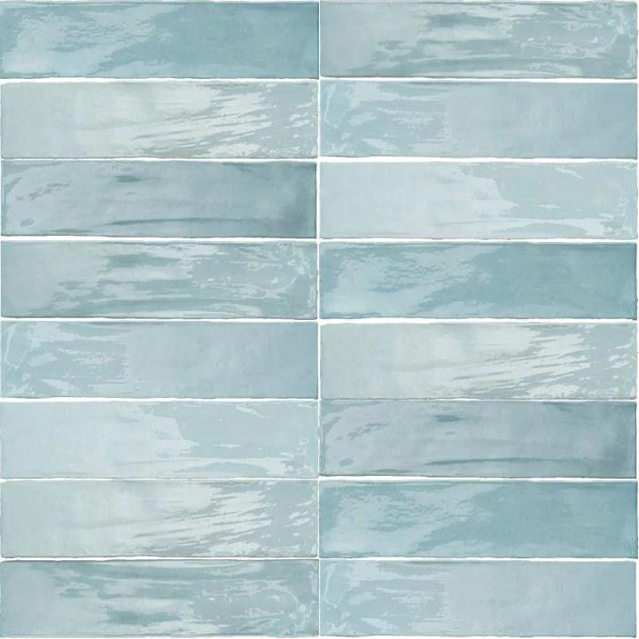 arizona tile flash 3 x 12 ceramic wall tile light blue
