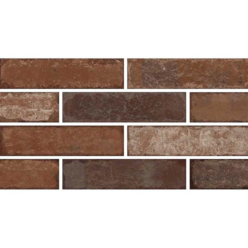 crossville studios bricklane 3 in x 12 in porcelain tile red