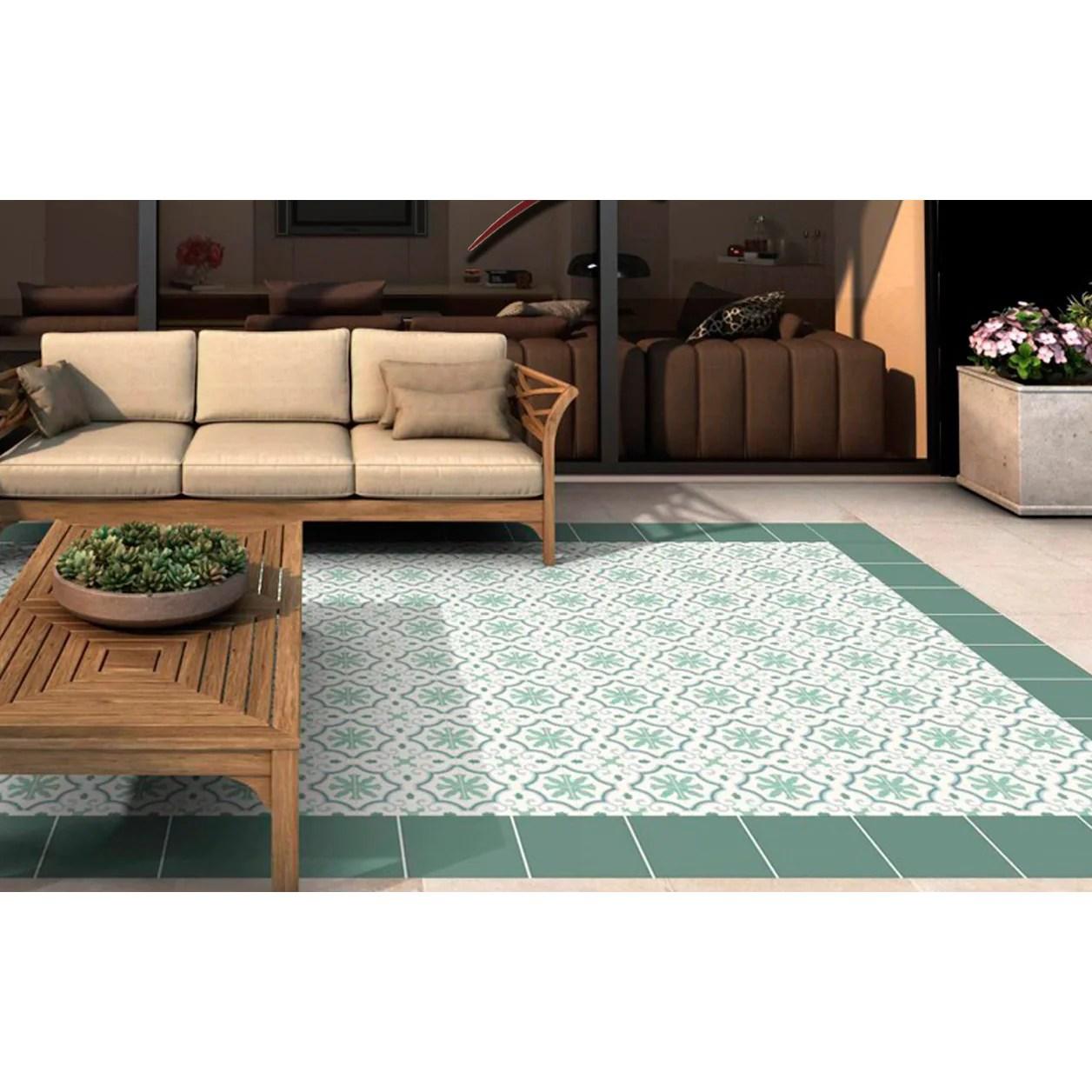 general ceramic 10 in x 10 in riviera montecarlo green deco tile