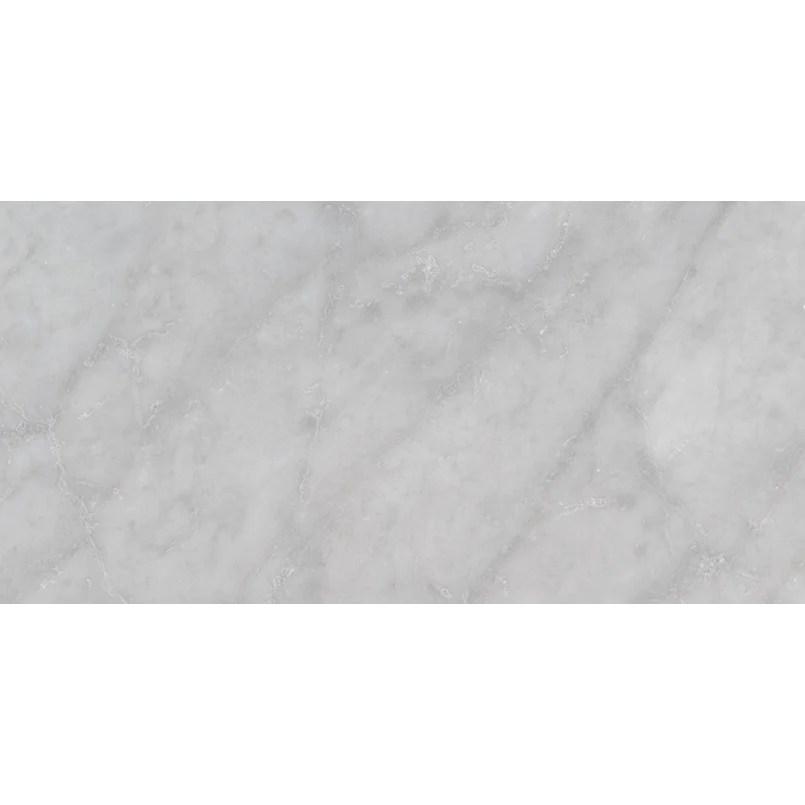 msi carrara white 12 in x 24 in marble tile polished