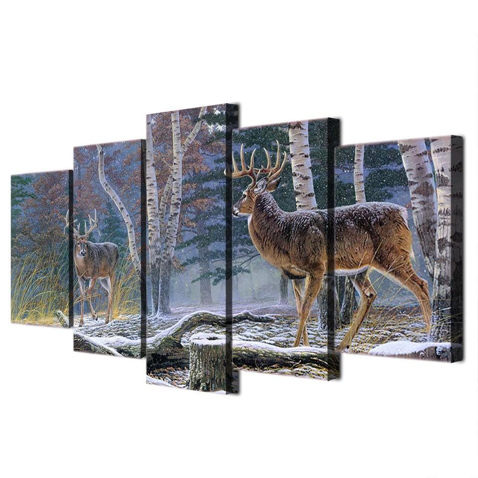 Whitetail Deer Canvas Wall Art