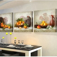 Art For The Kitchen Dining Chairs 3 Panels Paintings Fruit Wall Decor Modern Canvas Picture Living Room Descorative Pictures Unframed