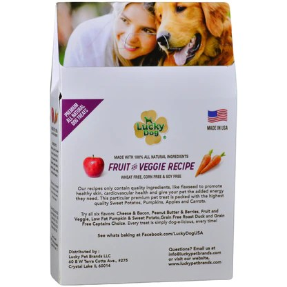 Fruit And Veggie All Natural Dog Treats From Lucky Dog