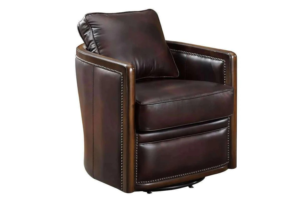 leather tub chair hanging target burnett 360 degree swivel chairs and recliner