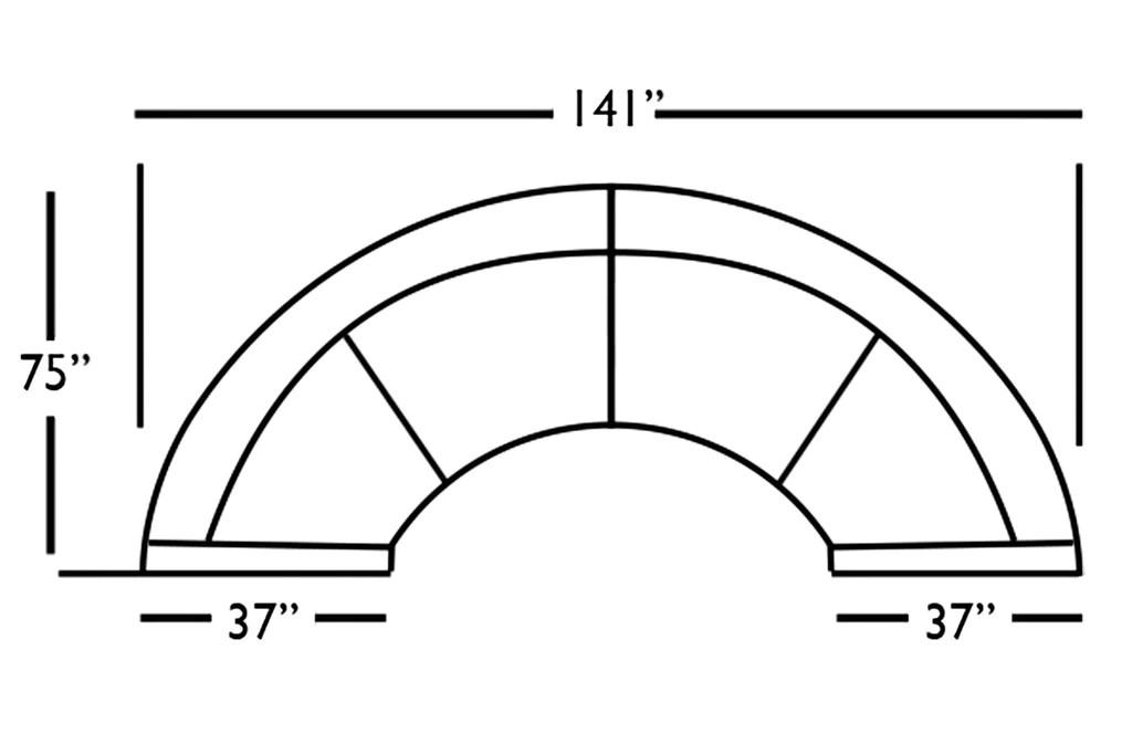 clarice 2 piece curved fabric