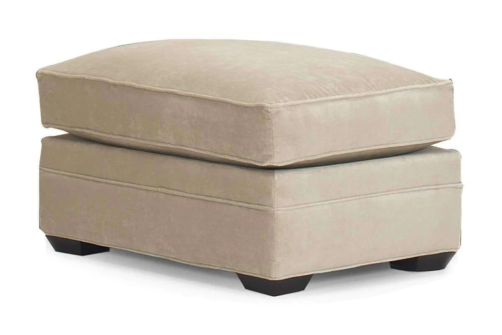 brooke fabric pillowtop footstool ottoman