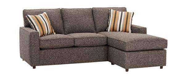 jennifer designer style apartment size sofa with reversible chaise