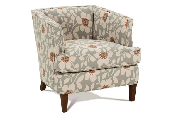 Lizzie Fabric Upholstered Unique Small Accent Chair
