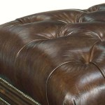 Hartman Justice Quick Ship 43 Inch Long Tufted Top Leather Drawer St