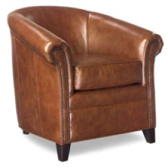 Leather Accent Chairs Vintage Rattan Chair Tufted Wing Back Modern Furniture And Chaise Gardner Tub Style With Nail Trim