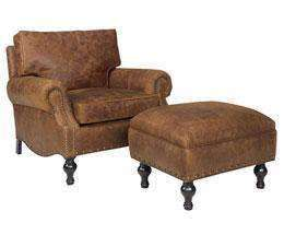 large leather chair with ottoman purple bedroom dewey and furniture