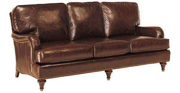 wesley sofa sofas with storage under designer style traditional english arm leather w nailed furniture trim