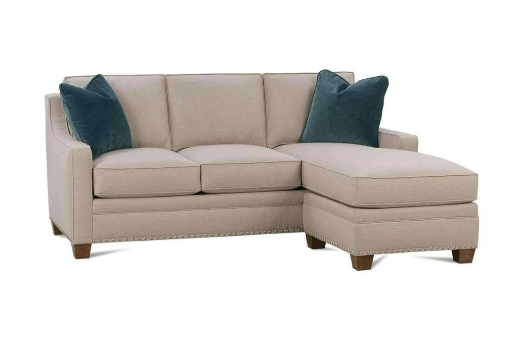 small apartment sofa sectional angled chaise addison designer style size with reversible fabric full sleep