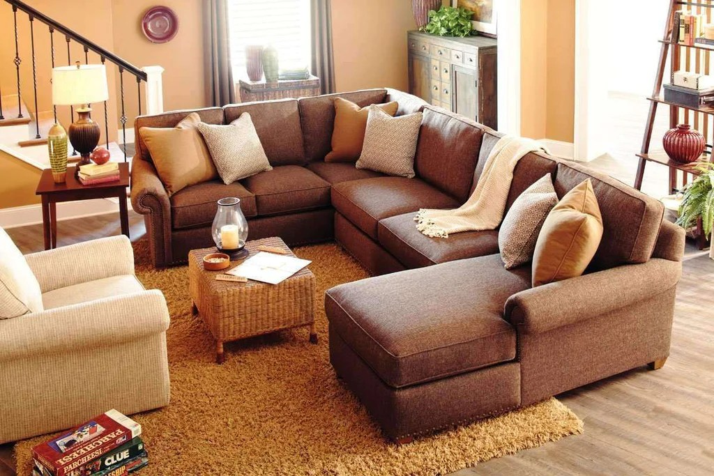 ellie designer style comfort deep seated fabric sectional