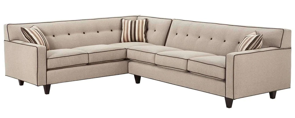 margo designer style mid century modern button back sectional couch