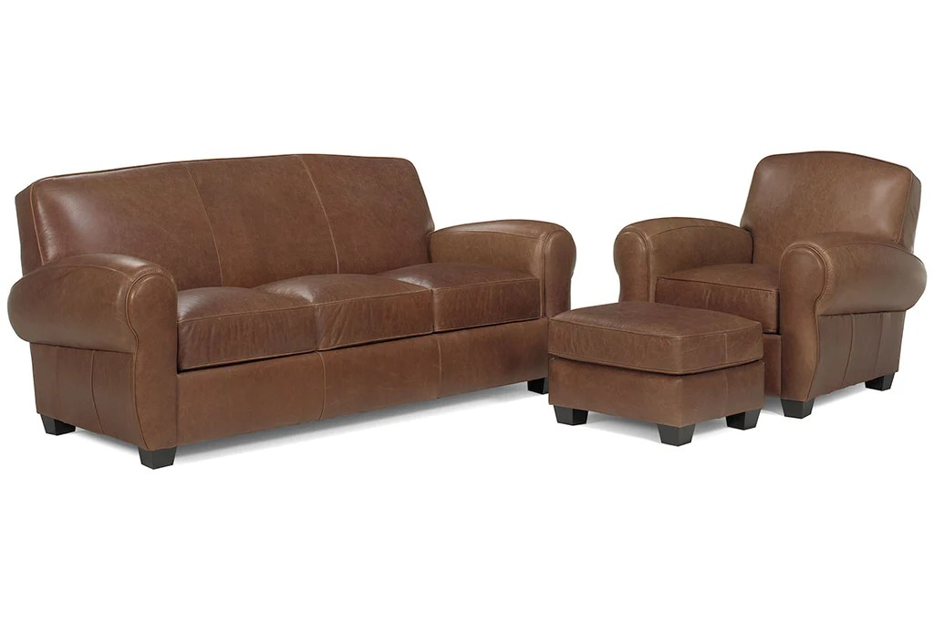 sebastian designer style brown leather couch collection