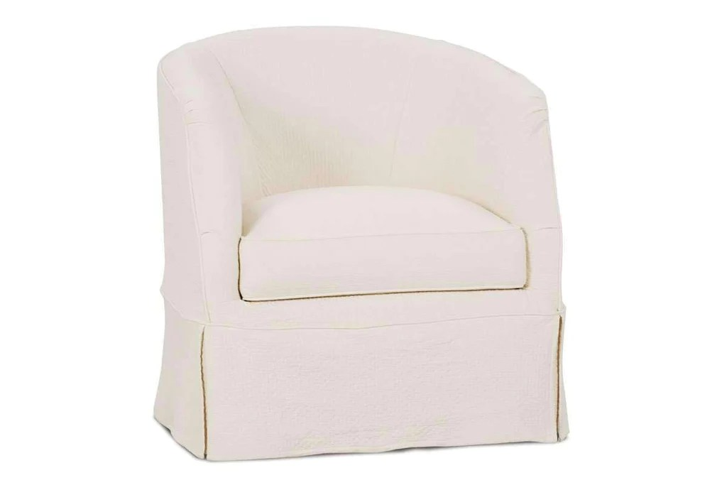 swivel tub chairs wood long chair lilianna slipcovered accent and chaise