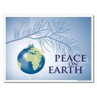 "Peace On Earth Christmas Lawn Display - 18""x24"" Yard Sign ..."