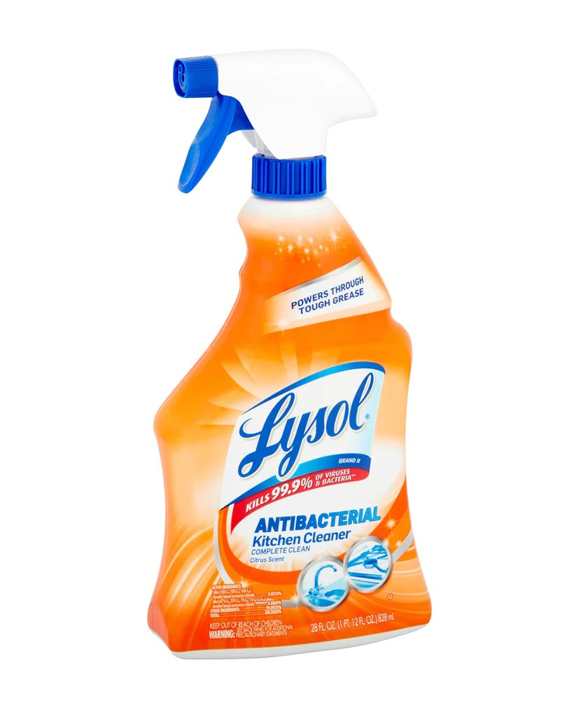 lysol antibacterial kitchen cleaner booths home cleaning supplies discount essentials