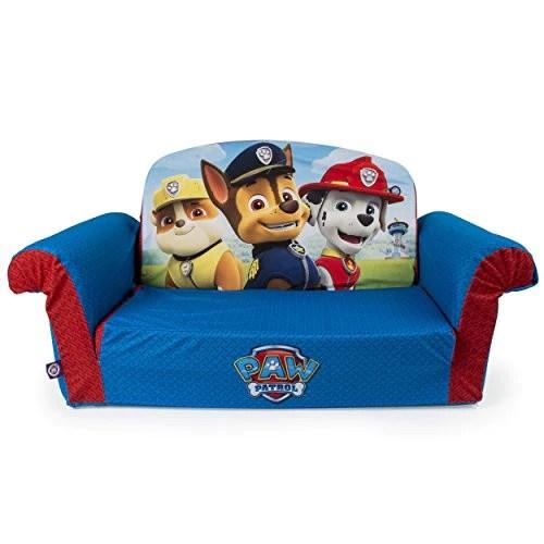 fun furniture flip open sofa disney princess pink black houndstooth marshmallow furniture, children's 2 in 1 foam ...