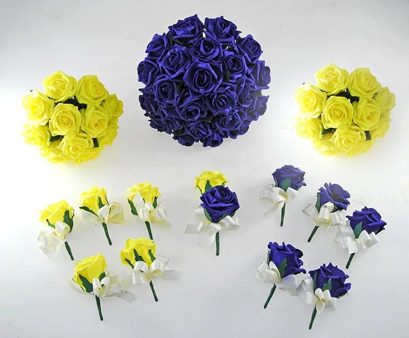 navy blue yellow rose