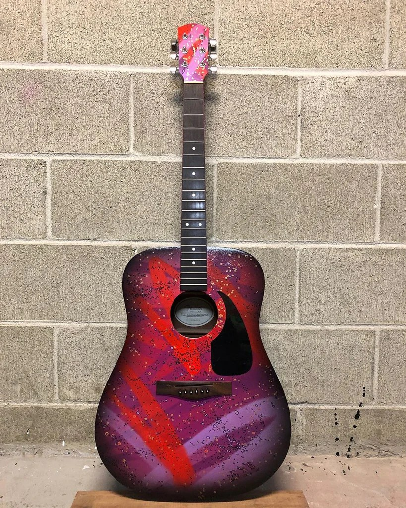Custom Painted Acoustic Guitars : custom, painted, acoustic, guitars, Custom, Painted, Fender, Acoustic, Guitar, Ethan, Rivelle