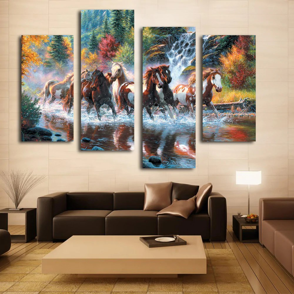 nice artwork living room top rated paint colors for wall decoration art beautiful horse canvas painting