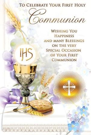 First Holy Communion Card Holy Cross Catholic Bookshop