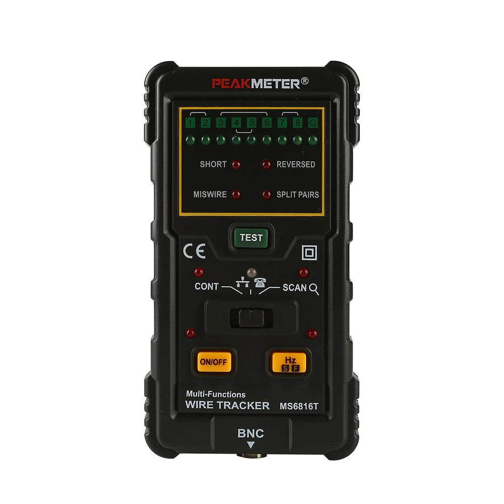 medium resolution of peakmeter ms6816 rj45 rj11 network cable wire tracker telephone line tester cat5