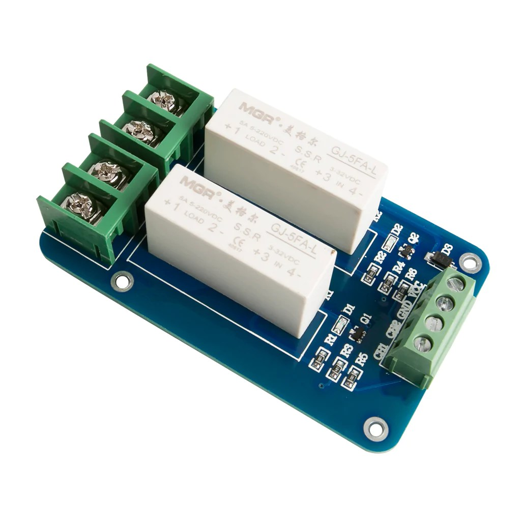2 channel dc dc 5v 220v 5a solid state relay [ 1024 x 1024 Pixel ]