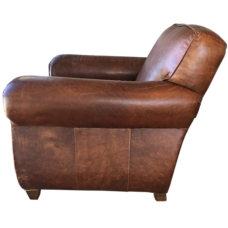 Restoration Hardware Leather Chairs Restoration Hardware Leather French Club Chair Ottoman Randy