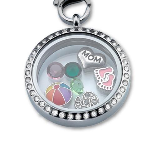 personalized floating locket necklace