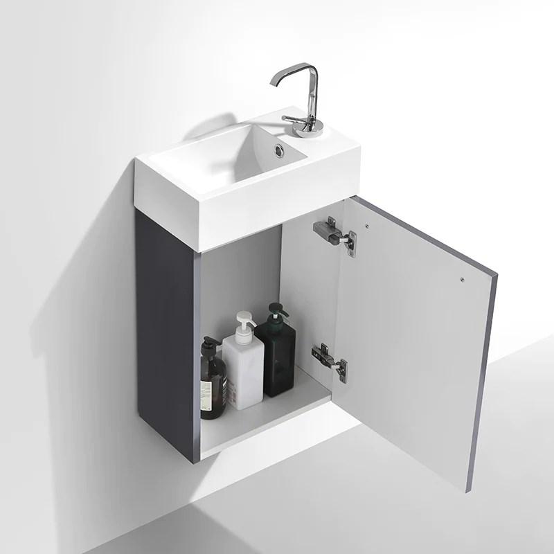 Mobile da bagno lavamano SIENA 40 cm  LACCATO GRIGIO  Il
