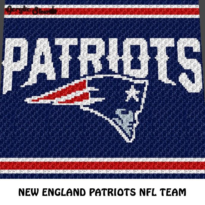 New England Patriots NFL Football Team Logo crochet