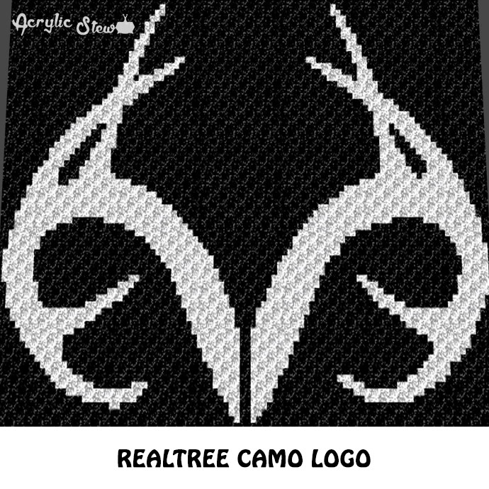 Realtree Antlers Camo Country Western C2C crochet graphgan