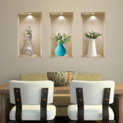 Wall Stickers Living Room Shades For 3d Art Niche Sticker Set Decor Decals