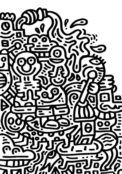 82 The Doodle Coloring Book Invasion